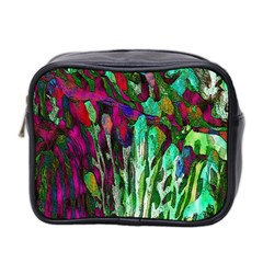 Bright Tropical Background Abstract Background That Has The Shape And Colors Of The Tropics Mini Toiletries Bag 2 Side by Nexatart