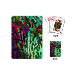 Bright Tropical Background Abstract Background That Has The Shape And Colors Of The Tropics Playing Cards (mini)  by Nexatart