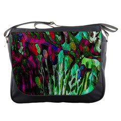 Bright Tropical Background Abstract Background That Has The Shape And Colors Of The Tropics Messenger Bags by Nexatart