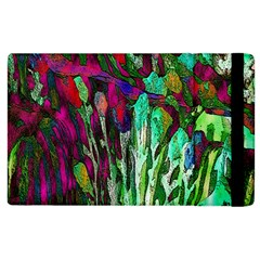 Bright Tropical Background Abstract Background That Has The Shape And Colors Of The Tropics Apple Ipad 2 Flip Case by Nexatart