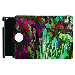 Bright Tropical Background Abstract Background That Has The Shape And Colors Of The Tropics Apple Ipad 3/4 Flip 360 Case by Nexatart