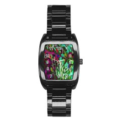 Bright Tropical Background Abstract Background That Has The Shape And Colors Of The Tropics Stainless Steel Barrel Watch by Nexatart