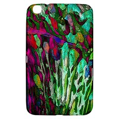 Bright Tropical Background Abstract Background That Has The Shape And Colors Of The Tropics Samsung Galaxy Tab 3 (8 ) T3100 Hardshell Case
