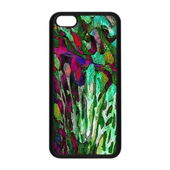 Bright Tropical Background Abstract Background That Has The Shape And Colors Of The Tropics Apple Iphone 5c Seamless Case (black) by Nexatart