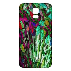 Bright Tropical Background Abstract Background That Has The Shape And Colors Of The Tropics Samsung Galaxy S5 Back Case (white) by Nexatart