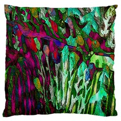 Bright Tropical Background Abstract Background That Has The Shape And Colors Of The Tropics Standard Flano Cushion Case (two Sides) by Nexatart