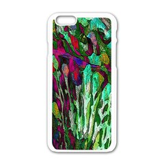 Bright Tropical Background Abstract Background That Has The Shape And Colors Of The Tropics Apple Iphone 6/6s White Enamel Case by Nexatart