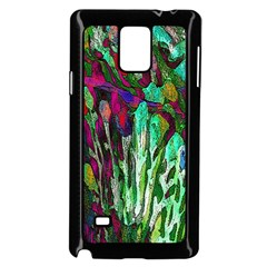 Bright Tropical Background Abstract Background That Has The Shape And Colors Of The Tropics Samsung Galaxy Note 4 Case (black)