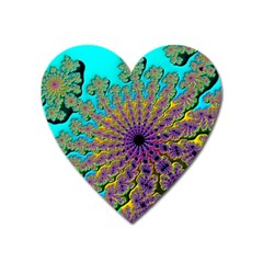 Beautiful Mandala Created With Fractal Forge Heart Magnet by Nexatart