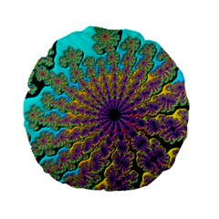 Beautiful Mandala Created With Fractal Forge Standard 15  Premium Round Cushions