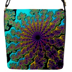 Beautiful Mandala Created With Fractal Forge Flap Messenger Bag (s)