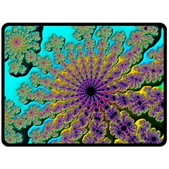 Beautiful Mandala Created With Fractal Forge Double Sided Fleece Blanket (large)  by Nexatart