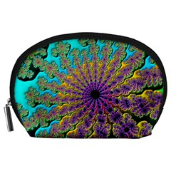 Beautiful Mandala Created With Fractal Forge Accessory Pouches (large)  by Nexatart