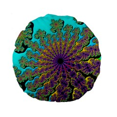 Beautiful Mandala Created With Fractal Forge Standard 15  Premium Flano Round Cushions by Nexatart