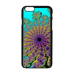Beautiful Mandala Created With Fractal Forge Apple Iphone 6/6s Black Enamel Case