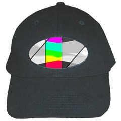 Colors Fadeout Paintwork Abstract Black Cap by Nexatart