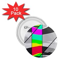 Colors Fadeout Paintwork Abstract 1 75  Buttons (10 Pack) by Nexatart