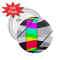 Colors Fadeout Paintwork Abstract 2 25  Buttons (100 Pack)  by Nexatart