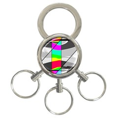 Colors Fadeout Paintwork Abstract 3 Ring Key Chains by Nexatart