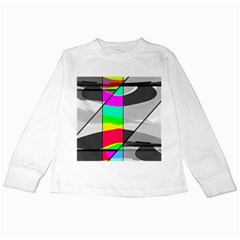 Colors Fadeout Paintwork Abstract Kids Long Sleeve T Shirts