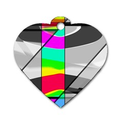 Colors Fadeout Paintwork Abstract Dog Tag Heart (one Side)