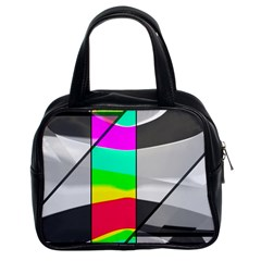 Colors Fadeout Paintwork Abstract Classic Handbags (2 Sides) by Nexatart