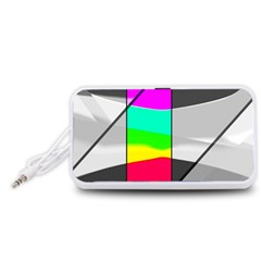 Colors Fadeout Paintwork Abstract Portable Speaker (White)