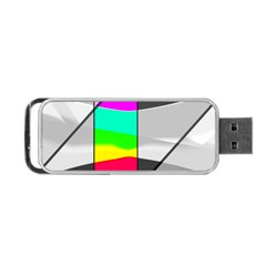 Colors Fadeout Paintwork Abstract Portable Usb Flash (two Sides) by Nexatart