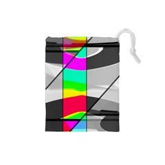 Colors Fadeout Paintwork Abstract Drawstring Pouches (small)