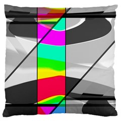 Colors Fadeout Paintwork Abstract Large Flano Cushion Case (two Sides)