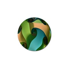 Ribbons Of Blue Aqua Green And Orange Woven Into A Curved Shape Form This Background Golf Ball Marker (10 Pack) by Nexatart