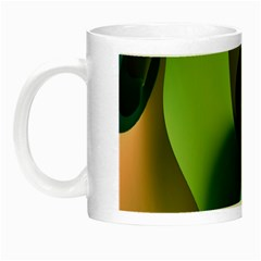Ribbons Of Blue Aqua Green And Orange Woven Into A Curved Shape Form This Background Night Luminous Mugs by Nexatart
