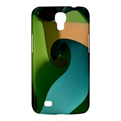 Ribbons Of Blue Aqua Green And Orange Woven Into A Curved Shape Form This Background Samsung Galaxy Mega 6 3  I9200 Hardshell Case