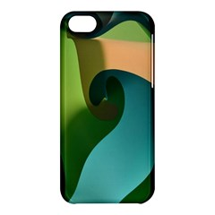 Ribbons Of Blue Aqua Green And Orange Woven Into A Curved Shape Form This Background Apple Iphone 5c Hardshell Case
