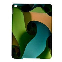 Ribbons Of Blue Aqua Green And Orange Woven Into A Curved Shape Form This Background Ipad Air 2 Hardshell Cases by Nexatart