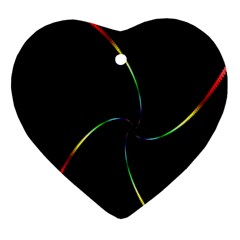 Digital Computer Graphic Heart Ornament (two Sides)