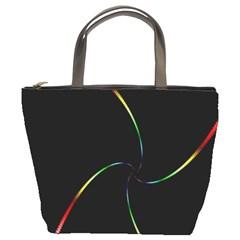 Digital Computer Graphic Bucket Bags by Nexatart