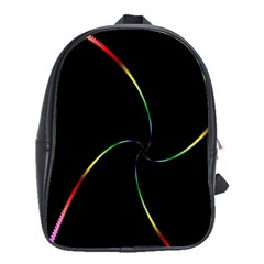 Digital Computer Graphic School Bags(large)