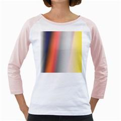 Digitally Created Abstract Colour Blur Background Girly Raglans
