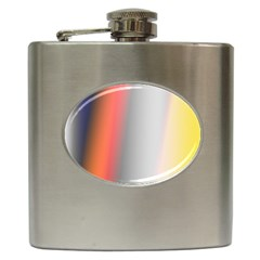 Digitally Created Abstract Colour Blur Background Hip Flask (6 Oz)