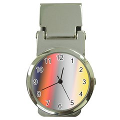Digitally Created Abstract Colour Blur Background Money Clip Watches by Nexatart