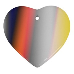 Digitally Created Abstract Colour Blur Background Heart Ornament (two Sides) by Nexatart