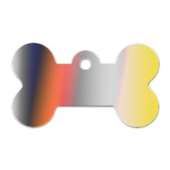 Digitally Created Abstract Colour Blur Background Dog Tag Bone (two Sides) by Nexatart