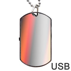 Digitally Created Abstract Colour Blur Background Dog Tag Usb Flash (two Sides) by Nexatart