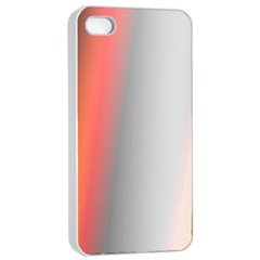 Digitally Created Abstract Colour Blur Background Apple Iphone 4/4s Seamless Case (white)