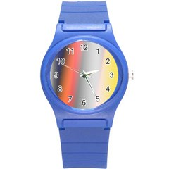 Digitally Created Abstract Colour Blur Background Round Plastic Sport Watch (s)