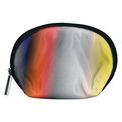 Digitally Created Abstract Colour Blur Background Accessory Pouches (medium)