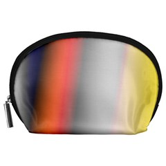 Digitally Created Abstract Colour Blur Background Accessory Pouches (large)  by Nexatart