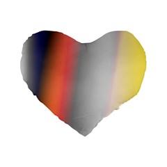 Digitally Created Abstract Colour Blur Background Standard 16  Premium Flano Heart Shape Cushions by Nexatart
