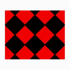 Red Black Square Pattern Small Glasses Cloth (2 Side)